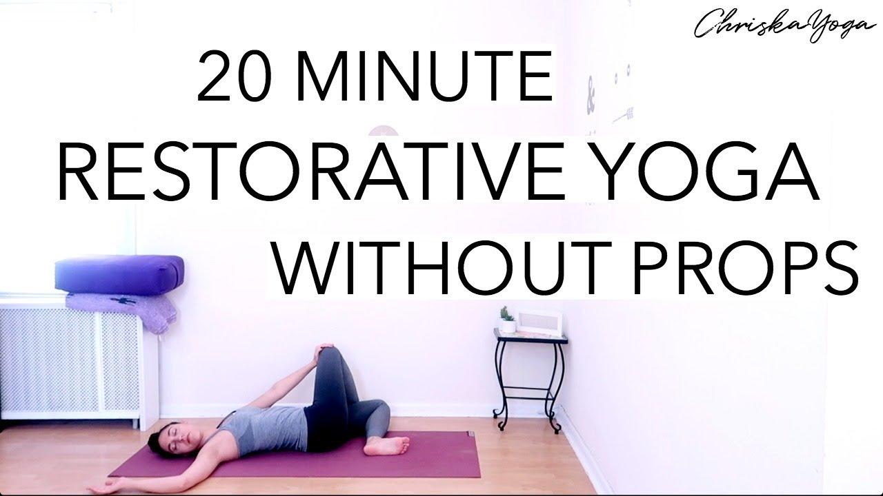 20 Min Restorative Yoga Without Props | Long Hold Yoga Stretches |  ChriskaYoga