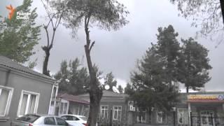 Шамолу борони сахт дар Душанбе