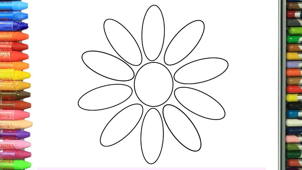 Нарисовать цветы в круге