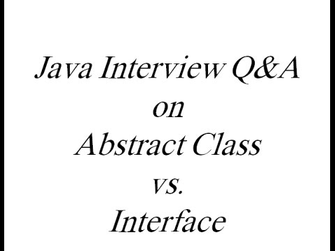 When To Use Abstract Class And When To Use Interface In Java Youtube