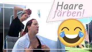 Marleen färbt mir die Haare / Lippe aufgeschlagen / 8.7.18 / FRAU_SEIN