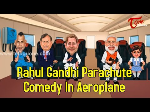 Rahul Gandhi Parachute Comedy In Aeroplane | Spoof thumbnail