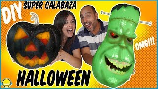 🎃 Casi 24 HORAS haciendo nuestra CALABAZA de HALLOWEEN 2019!! Making Fantastic Halloween Pumpking!!