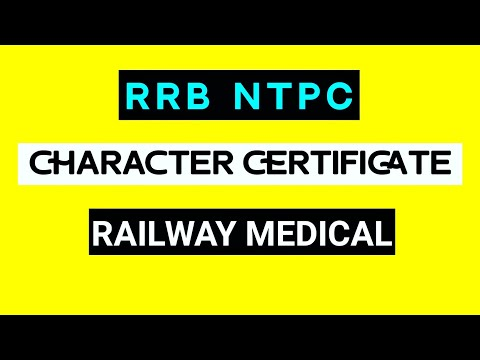 Charater certificate railway medical youtube charater certificate railway medical altavistaventures Images