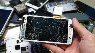 Destroyed Phone Restoration | Restore Samsung Galaxy Pop | A lot of abandoned broken phones