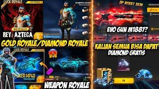RESMI❗KLAIM DIAMOND GR4TIS, MP40 WEAPON ROYALE M1887, EVENT TOP UP BESOK DAN INCUBATOR, GOLD ROYALE
