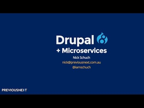 Drupal 8 and Microservices