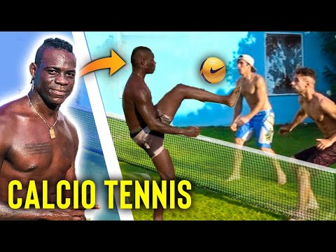 MARIO BALOTELLI ci SFIDA a CALCIO TENNIS !! Footwork Italia