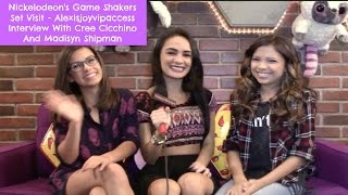 Game Shakers Set Visit - Madisyn Shipman And Cree Cicchino Interview With Alexisjoyvipaccess