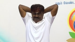 Vijayakanth Performing  Yoga on a International Yoga Day Must Watch - Red Pix 24x7