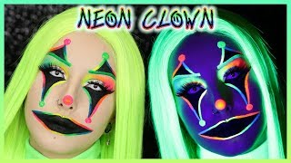 NEON UV CLOWN 🤡 (Stargazer & Suva Beauty) | Halloween 2019