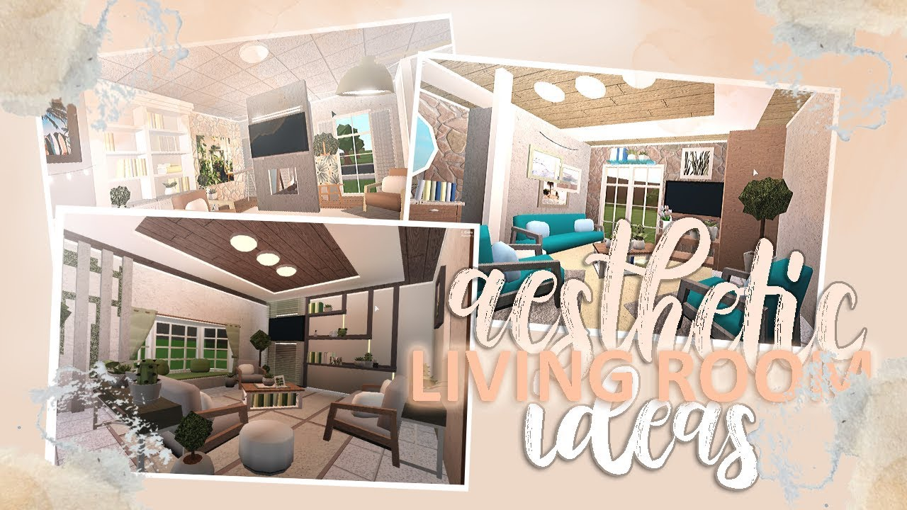 11 Aesthetic Living Room Ideas  BLOXBURG