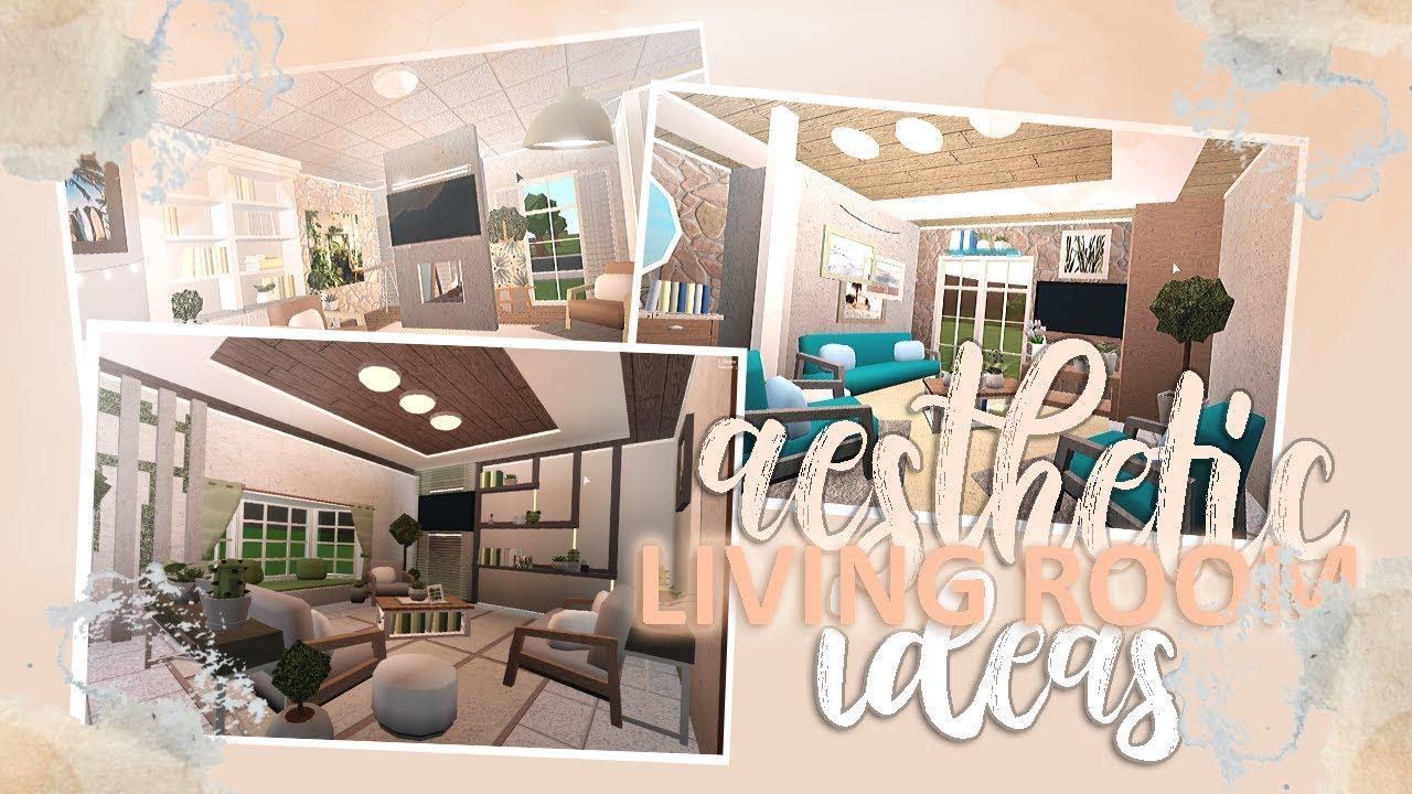 3 Aesthetic Living Room Ideas Bloxburg Youtube