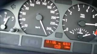 BMW E46 325ti Compact - Top speed vmax (downhill!)