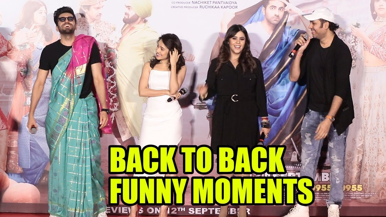 Ayushman Khurana Back To Back Funny Moment At Dream Girl Official Trailer Launch