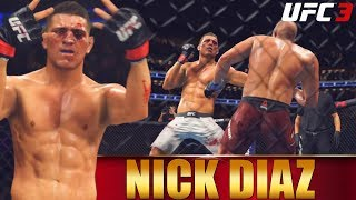 EA UFC 3 Ranked Gameplay: Nick Diaz Is Nice On The Ground - Looking For Revenge