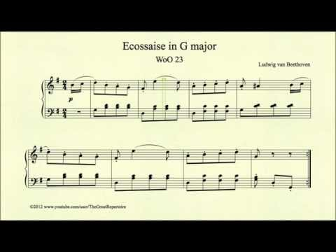 Beethoven, Ecossaise in G major, WoO 23