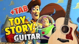 TOY STORY music on GUITAR (you've got a friend in me, fingerstyle cover with TABS)