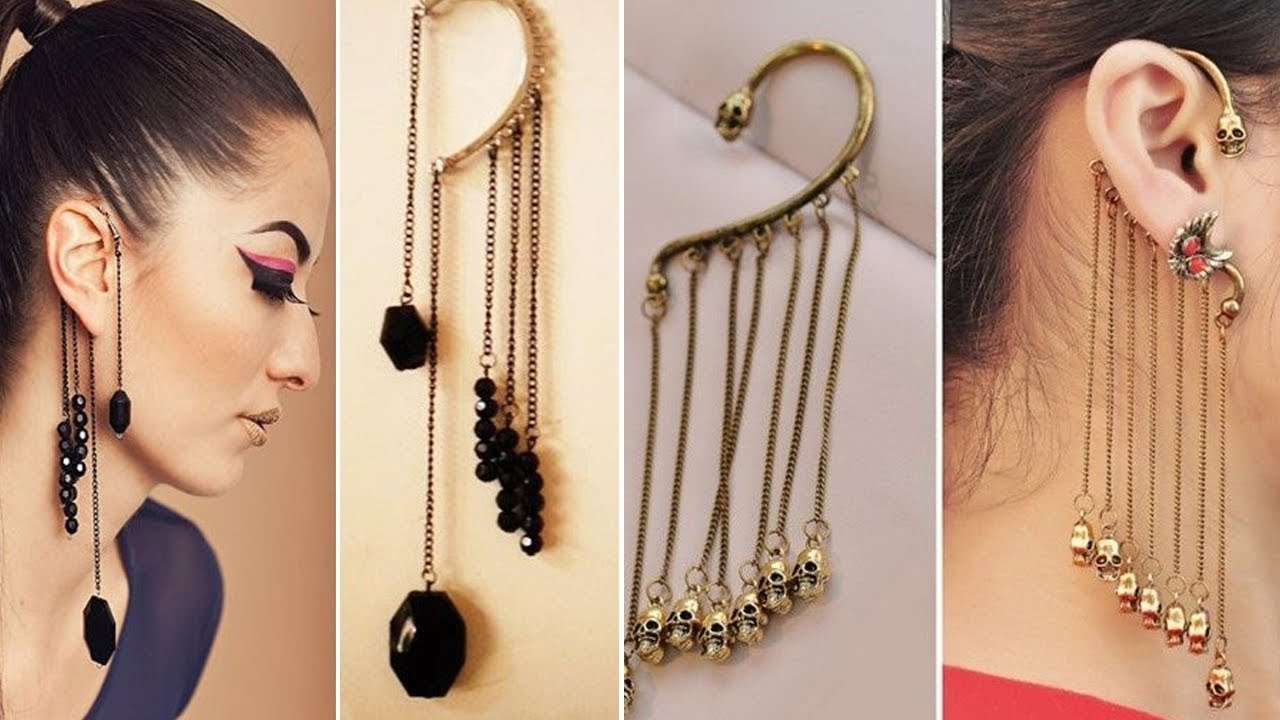 One side Earring Designs – Hot, New Fashion 2018 #1