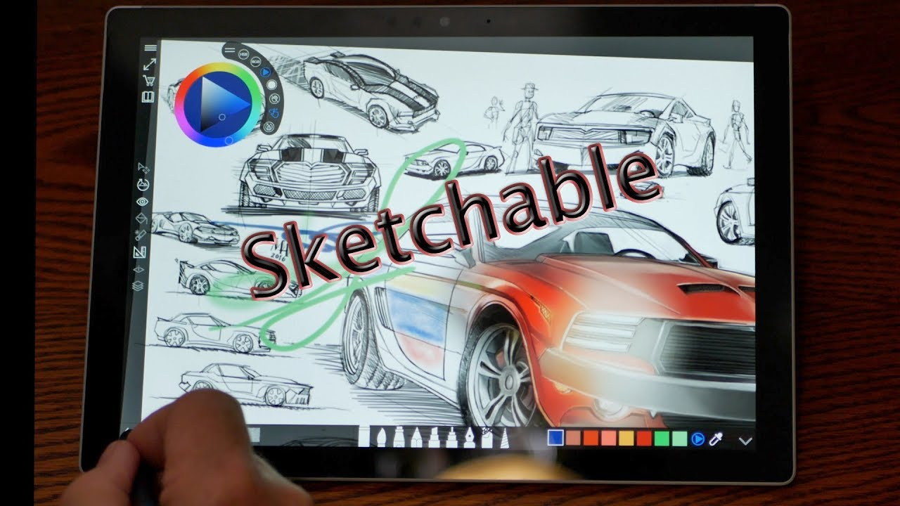 Surface pro drawing app sketchable great app for drawing sketching
