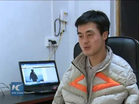 Armless Chinese man starts e-business with his feet