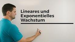 Lineares und Exponentielles Wachstum, Übersicht, Unterschiede, Exponentialfunktionen