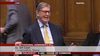 Sir Bill Cash MP speaking at the EU (Withdrawal Agreement) Bill debate