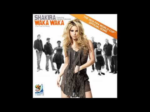 Shakira - Waka Waka Karaoke / Instrumental with backing vocals and lyrics