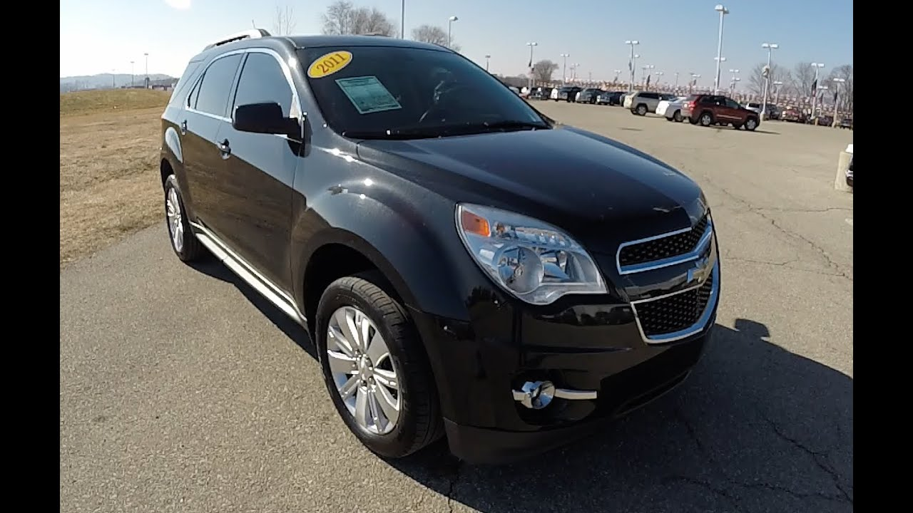 2011 Chevrolet Equinox 2lt Black Martinsville Indiana Leather Interior 17728b Youtube
