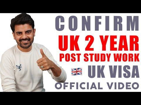 GOOD NEWS : UK 2 YEAR POST STUDY WORK VISA | Study In UK | VISA