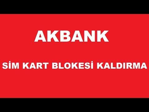 AKBANK ATMden Sim Kart Blokesi Kaldırma