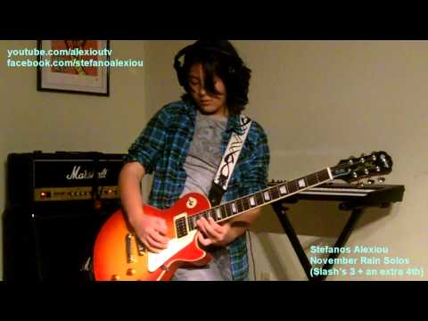 Guns N' Roses – November Rain Solo (All Slash's 3 + extra 4th solo by Stefanos Alexiou)