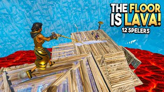 THE FLOOR IS LAVA in Fortnite met 12 SPELERS!!