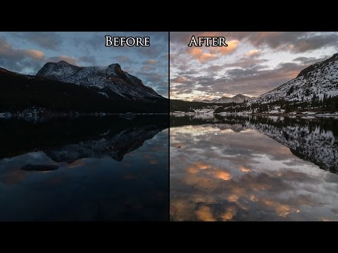 Speed Editing a RAW Landscape Photo in 5 Minutes with Photoshop