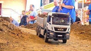 BIG Rc Truck Action! MiniBaustelle Alsfeld 2017! MAN! Scania! MB Arocs!