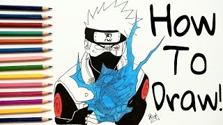 How To Draw Kakashi - Step By Step - TUTORIAL