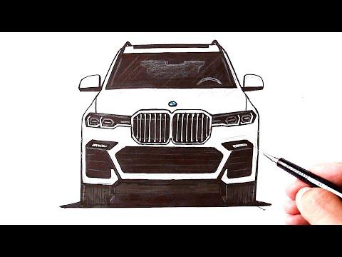 Как нарисовать машину BMW X7