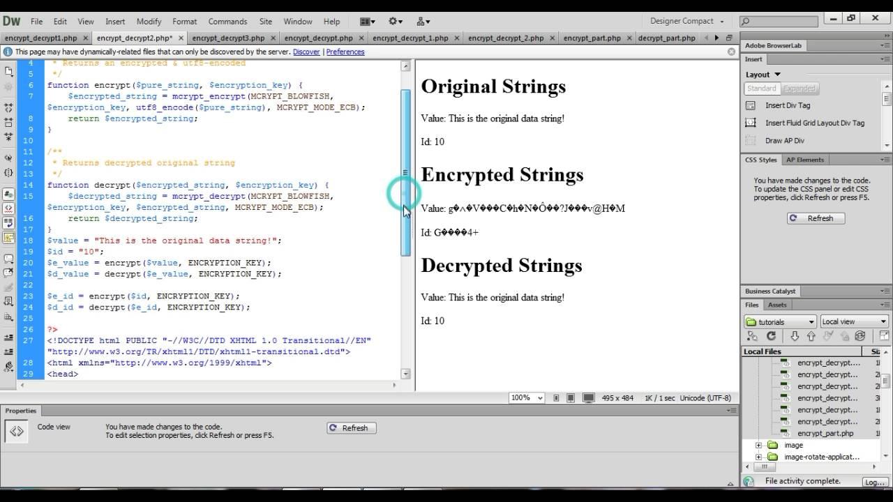 php encrypt decrypt