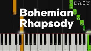 Bohemian Rhapsody - Queen | EASY Piano Tutorial