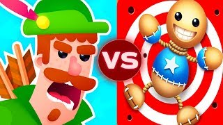 Kick The Buddy Vs Bowmasters Funny Troll Hit Finish Gameplay ( Android , iOS )