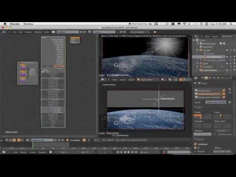 LensFlare Tutorial: Part 2 of 4:  How To Set Up a LensFlare Shader in Blender Cycles.