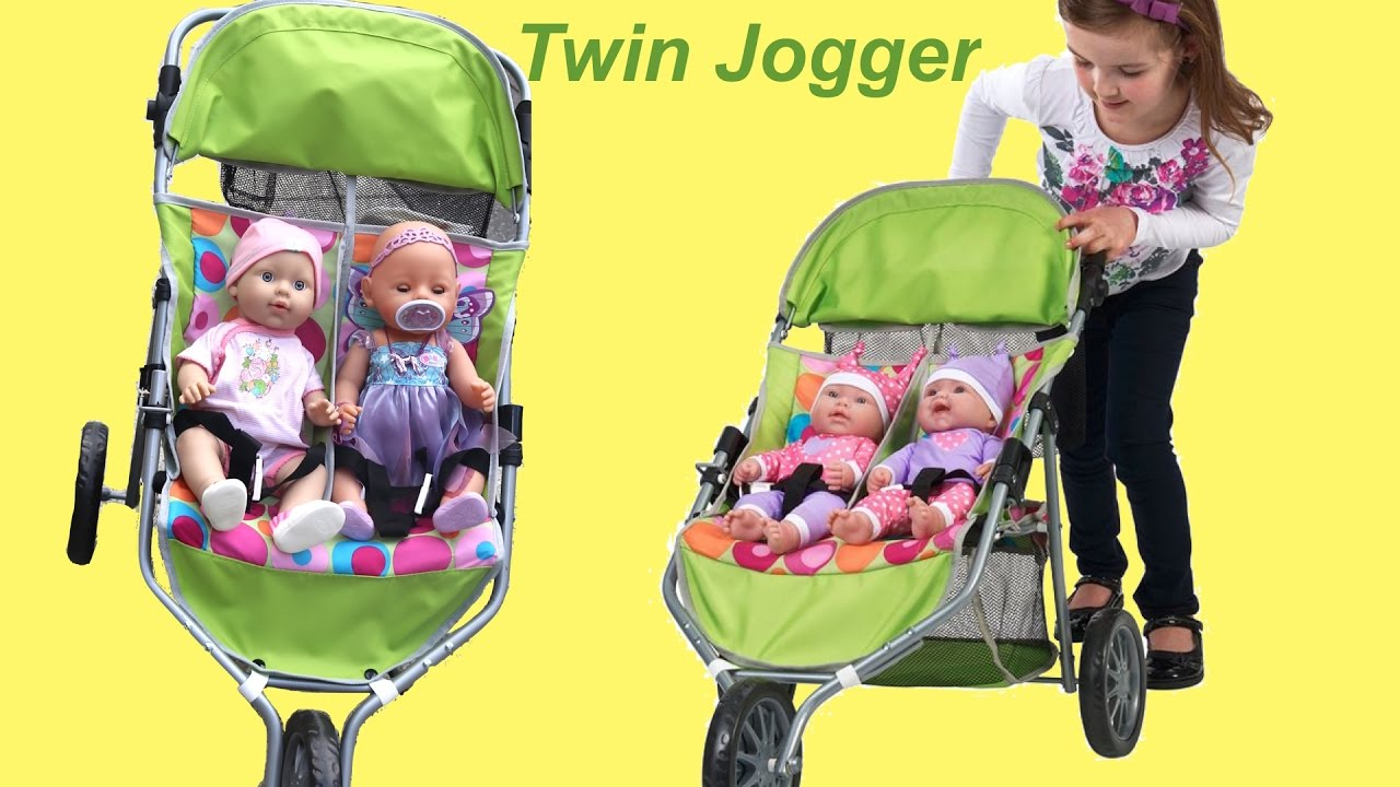 Dimples Twin Jogger Pram Baby Annabell Baby Born Little
