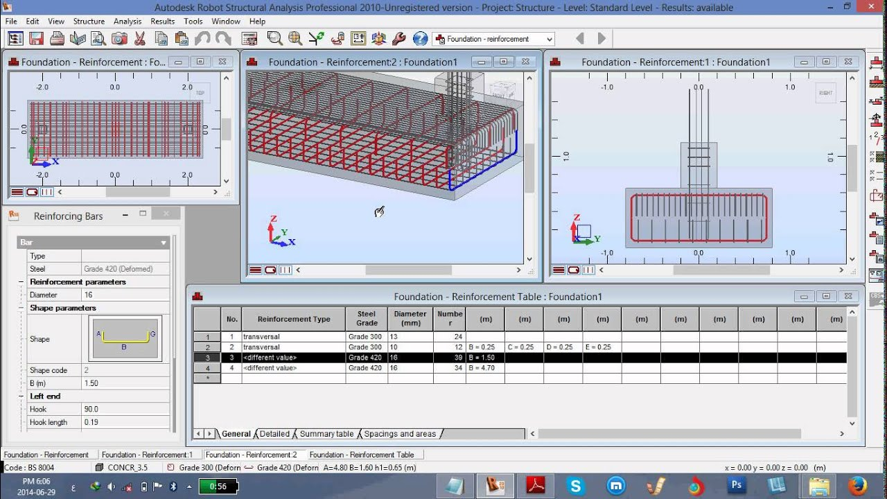 Combined Footing By Robot Structural Analysis Youtube