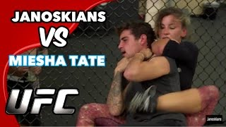 FIGHTING A CHAMPION WOMAN UFC FIGHTER (Miesha Tate)(Miesha Tate gave us 2 minutes each to 'see how many times she can make us tap' Miesha's instagram: https://instagram.com/mieshatate Miesha's twitter: ..., 2015-10-24T11:17:31.000Z)