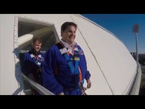 Rowey takes on Adelaide Oval roof climb