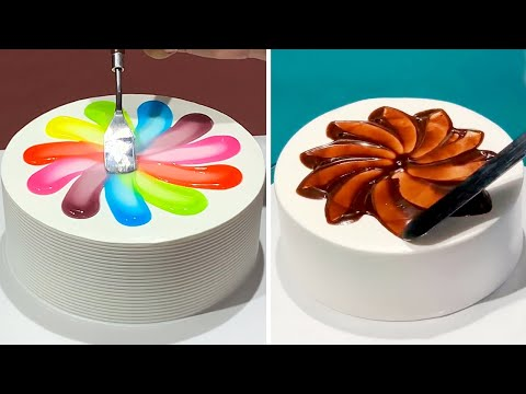 Most Satisfying Chocolate Cake Decorating  How to Make Chocolate Cake Recipes  So Yummy