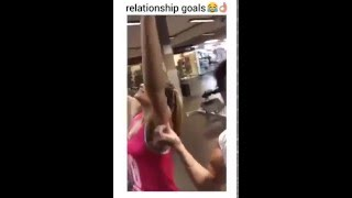 boyfriend pranks his girl for playing color switch at the gym lol credit shammi x