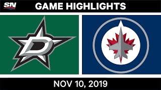 NHL Highlights   Stars vs. Jets – Nov. 10, 2019