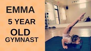 emma a 5 year old gymnast