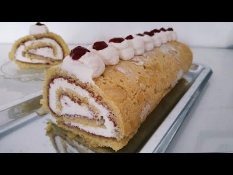 biscuit-roulé-avec-des-blancs-d'œufs,-sans-torchon-humide